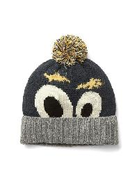 Gap Googly Eyes Pom Pom Beanie - Navy heather b8843