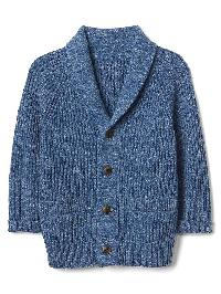 Gap Ribbed Shawl Cardigan - Elysian blue