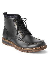 Gap Lace Up Boots - True black