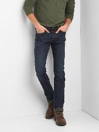 Gap Straight Fit Jeans (Stretch) - Dark wash indigo