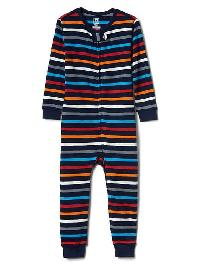 Gap Multi Stripe Sleep One Piece - Elysian blue