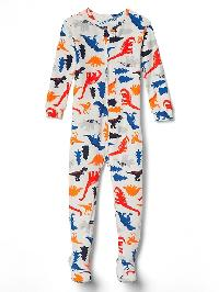 Gap Dino Footed Sleep One Piece - New off white