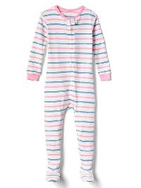 Gap Pastel Stripe Footed Sleep One Piece - New off white