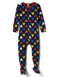Babygap &#124 Disney Baby Mickey Mouse Footed Sleep One Piece - Elysian blue