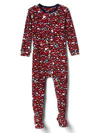 Babygap &#124 Disney Baby Lightning Mcqueen Footed Sleep One Piece - Modern red 2