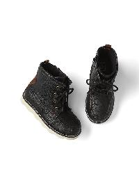 Gap Leather Hiker Books - True black