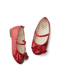 Gap Patent Bow Ballet Flats - Modern red 2