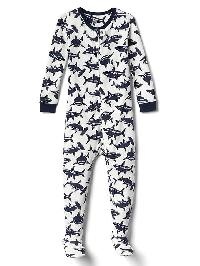 Gap Shark Footed Sleep One Piece - New off white