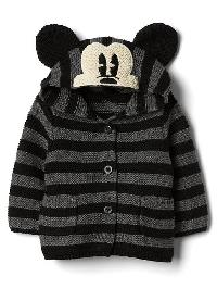 Babygap &#124 Disney Baby Mickey Mouse Garter Sweater - Charcoal heather