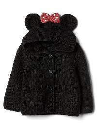 Babygap &#124 Disney Baby Minnie Mouse Garter Sweater - True black