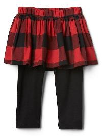 Gap Plaid Skirt Stretch Jersey Leggings - True black