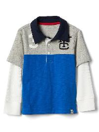 Gap 2 In 1 Sporty Slub Polo - B1nd05 light grey