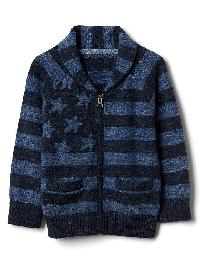 Gap Flag Zip Raglan Cardigan - Elysian blue