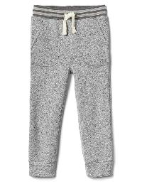 Gap Sweater Fleece Pull On Pants - Heather grey