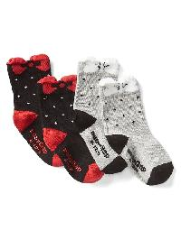 Gap Bow Socks (2 Pack) - True black