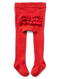 Gap Ruffle Sweater Tights - Modern red 2