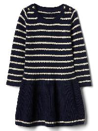 Gap Breton Stripe Sweater Dress - Stripe navy