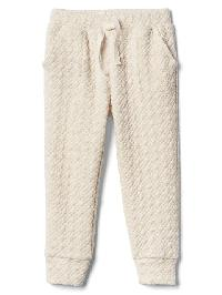 Gap Quilted Jacquard Pants - Oatmeal heather