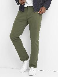 Gap Twill Skinny Fit Pants (Stretch) - Black moss