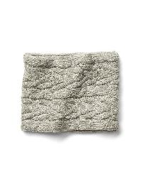 Gap Cable Knit Neckwarmer - Light heather grey
