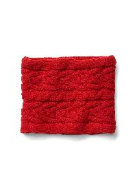 Gap Cable Knit Neckwarmer - Modern red