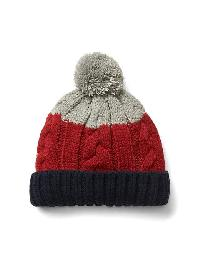 Gap Pom Pom Cable Knit Beanie - Modern red 2