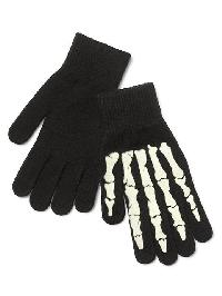 Gap Skeleton Glow In The Dark Mittens - True black