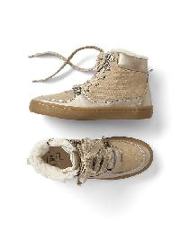 Gap Cozy Faux Suede Sneakers - Champagne