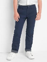 Gap Flannel Lined Chinos - Blue galaxy