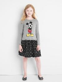 Gapkids &#124 Disney Mickey Mouse Mix Fabric Dress - Charcoal grey b20
