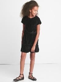Gap Velvet Keyhole Tiered Dress - True black