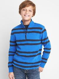 Gap Stripe Mockneck Pullover - Blue streak