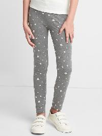 Gap Print Stretch Jersey Leggings - Charcoal heather
