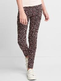 Gap Print Stretch Jersey Leggings - True black
