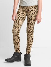 Gap Print Stretch Jersey Leggings - Leopard print