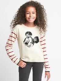 Gapkids &#124 Disney Mickey Mouse Sequin Crew Sweater - Oatmeal heather
