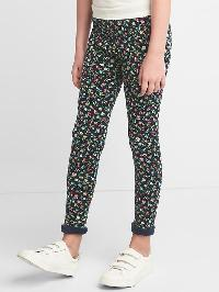 Gap Print Cozy Fleece Leggings - Blue uniform
