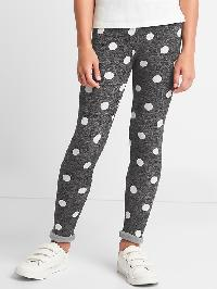 Gap Print Cozy Fleece Leggings - True black