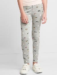 Gap Print Soft Terry Leggings - Light heather grey