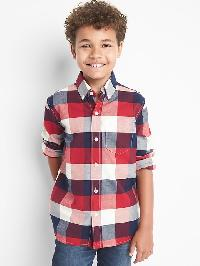 Gap Plaid Oxford Button Down Shirt - Modern red 2