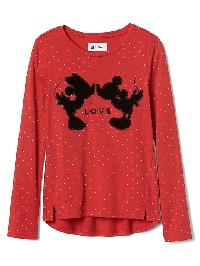 Gapkids &#124 Disney Mickey Mouse And Minnie Mouse Hi Lo Tee - Pepper red