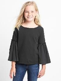 Gap Mix Fabric Bell Top - Moonless night