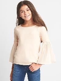 Gap Mix Fabric Bell Top - Pearl rose 248