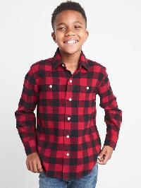 Gap Buffalo Plaid Flannel Long Sleeve Shirt - New classic red