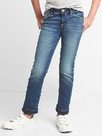 Gap Stretch Jersey Lined Straight Jeans - Dark wash