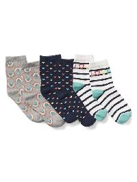 Gap Graphic Half Crew Socks (3 Pack) - Rainbows 646