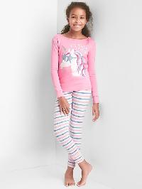 Gap Print Sleep Set - Parisian pink
