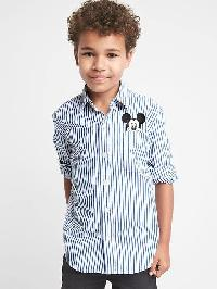 Gapkids &#124 Disney Mickey Mouse Pocket Shirt - Brilliant blue