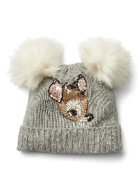 Gapkids &#124 Disney Bambi Embellished Beanie - Grey heather