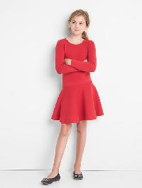 Gap Drop Waist Keyhole Sweater Dress - Modern red 2